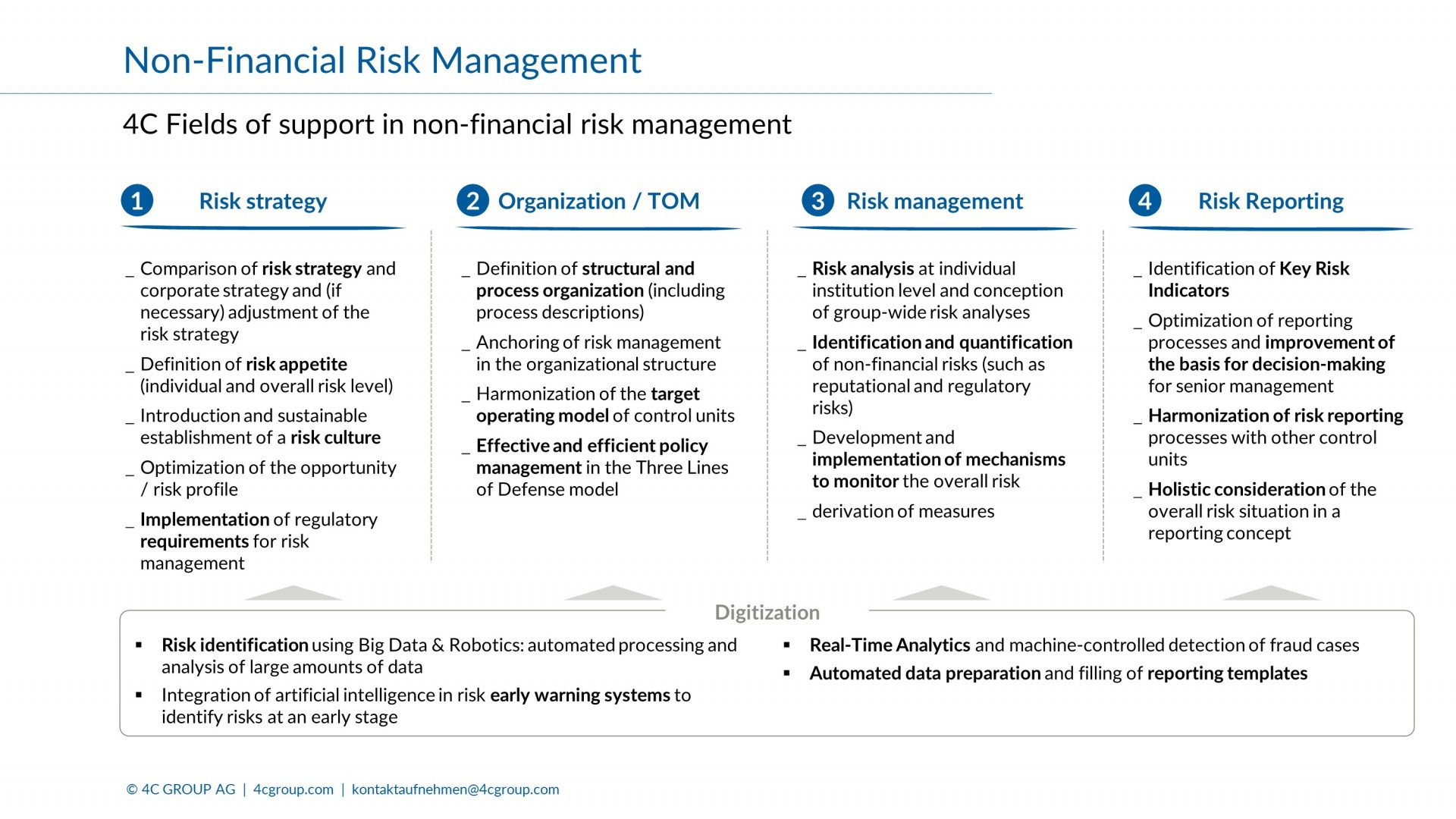 Non Financial Risk Management